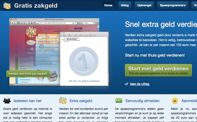 Website gratis-zakgeld.nl
