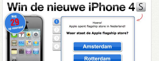 Win de nieuwe iPhone 4S