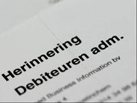 Herinnering schuldsanering debiteuren