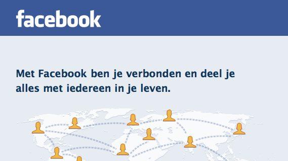 Facebook startscherm