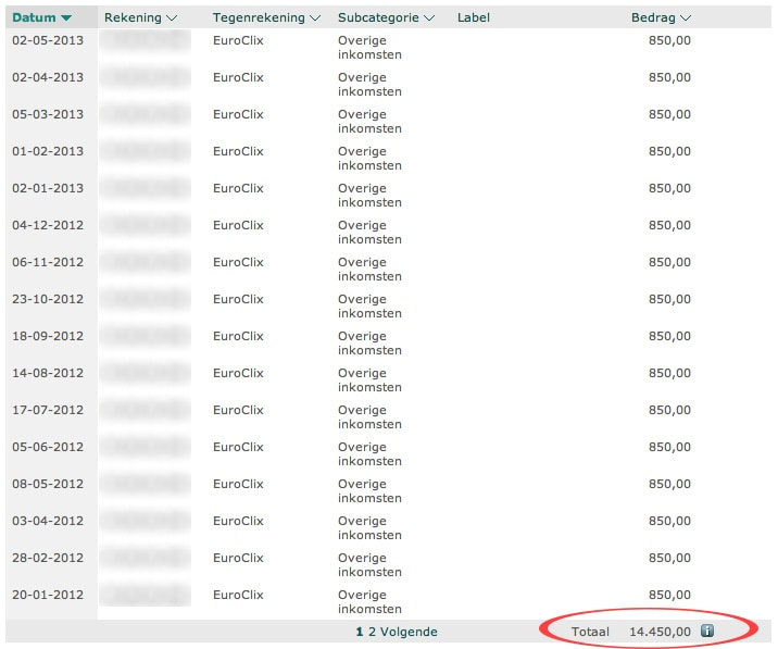 Betalingsbewijs EuroClix
