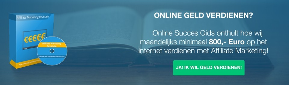 Geld verdienen Affiliate Marketing Cursus