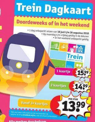 trein dagkaart folder aanbiedingen